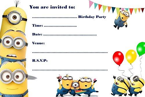 Party Einladungen A5 Format Motiv Minions 10 Stck