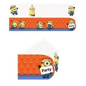 12-teiliges-Einladungs-Set-MINIONS-fr-Party-und-Geburtstag-AMSCAN-Kinder-Kindergeburtstag-Mottoparty-Fete-Invites-Einladungen-Einladungskarten-Despicable-Me-0
