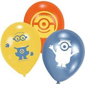 6-Luftballons-MINIONS-fr-Kindergeburtstag-ca-23cm-Durchmesser-Kinder-Party-Feier-Fete-Geburtstag-Ballon-Luftballon-Despicable-me-0