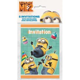 8-Einladungen-Despicable-Me-2-Minions-Ich-einfach-unverbesserlich-0