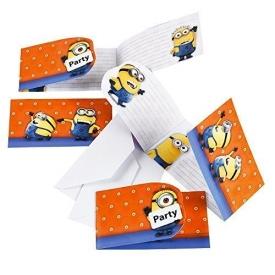 Ich Einfach Unverbesserlich 2 – Minions Party Einladungskarten 6 Stk.