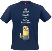 Minions Keep Calm And Eat A Banana T-Shirt navy
