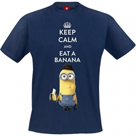 Minions Keep Calm And Eat A Banana T-Shirt navy
