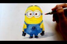 Minion in 3D Optik zeichnen – so geht´s